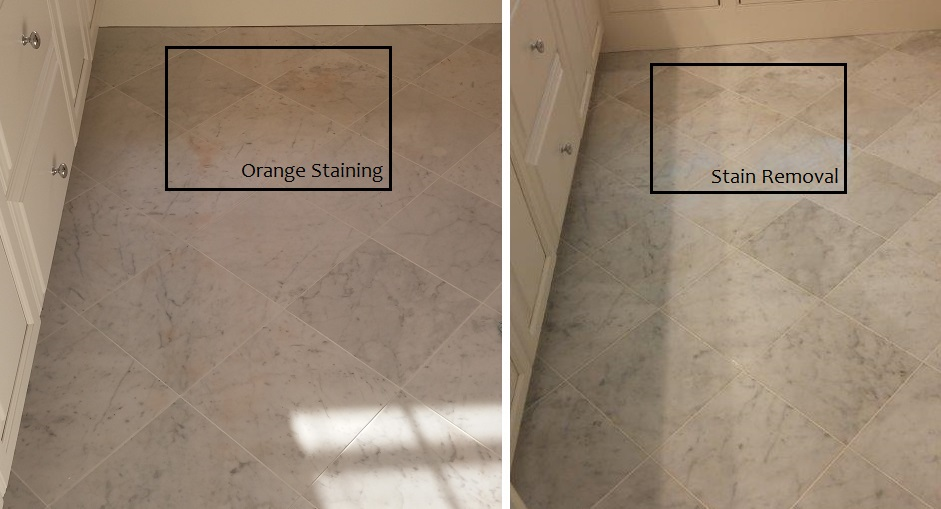 Marble Floor Stain Removal