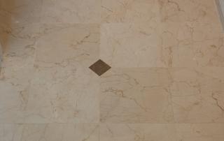 Tan marble floor