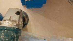 9) Repair is flattened by grinding