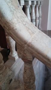 Final marble railing repair