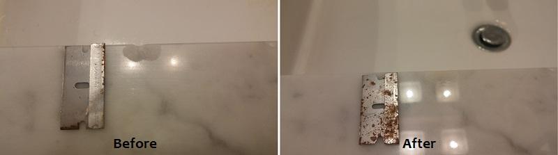 Carrara Marble Vanity Chip Repair