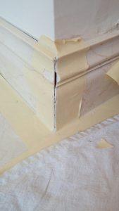 Marble Baseboard Crack and Broken Seam