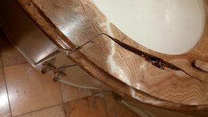 Rojo Marble Crack Repair